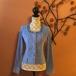 [SISLEY] Blue Long Sleeve Snap Buttons Jacket Sz M